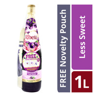 Ribena Blackcurrant Cordial - Less Sweet + Ribena Novelty Pouch