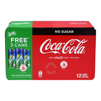 Coca-Cola Can Drink - No Sugar + Free Sprite