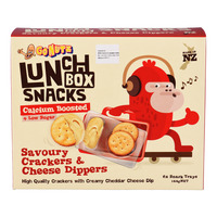 GoNutz Lunch Box Snacks with Cheese Dipper - Savoury Crackers