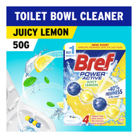 Bref Power Active Toilet Cleaner & Freshener - Juicy Lemon