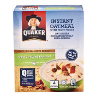 Quaker Instant Oatmeal Sachets - Apples, Pecans & Raisins