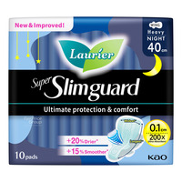 Laurier Super Slimguard Night Pads - Heavy (40cm)