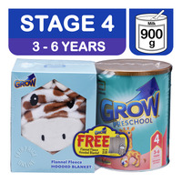 Abbott Grow Preschool Milk Formula - 3 Years + Hooded Blanket