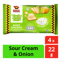 Mister Potato Thin Thin Baked Crackers - Sour Cream & Onion