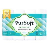 PurSoft Bathroom Tissue Roll - Green Tea (4ply)
