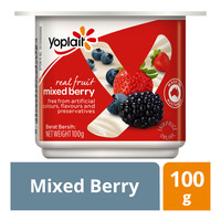 Yoplait Real Fruit Yoghurt - Mixed Berry