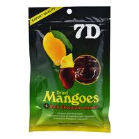 7D Dried Mangoes - Dark Chocolate