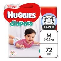 Huggies Silver Diapers - M (6 - 11kg)