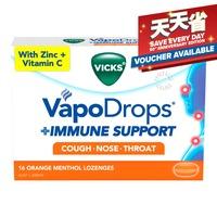 Vicks VapoDrops + Immune Support Lozenges - Orange