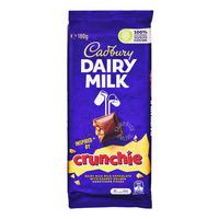 Cadbury Dairy Milk Chocolate Block - Crunchie