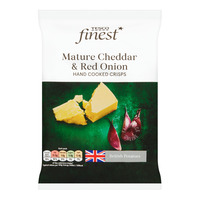 Tesco Finest Hand Cooked Crisps - Mature Cheddar & Red Onion