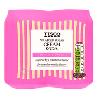 Tesco Carbonated Can Drink - Cream Soda (No Added Sugar)