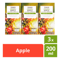 Tesco Organic Juice From Concentrate Packet Drink - Apple