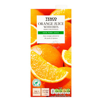 Tesco From Concentrate Juice with Bits - Orange
