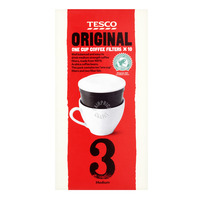 Tesco One Cup Ground Coffee Filters - Original (Medium)