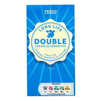 Tesco Long Life Double Cream Alternative