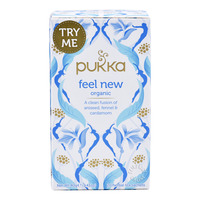 Pukka Organic Herbal Tea Bags - Feel New