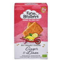 Farm Brothers Bio Organic Cookies - Ginger & Lemon