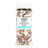 Tesco Triple Chocolate Curls - Milk, White & Dark