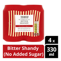 Tesco Can Drink - Bitter Shandy (No Added Sugar)