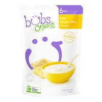 Bubs Organic Baby Cereals - Banana Rice