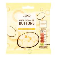 Tesco Chocolate Buttons - White