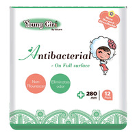 UU Care Young Girl Antibacterial Pads - 280mm