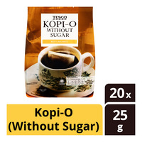 Tesco 3-in-1 Instant Coffee - Kopi-O (Without Sugar)