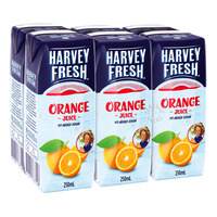 Harvey Fresh Packet Juice - Orange (No Added Sugar)
