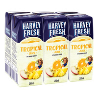 Harvey Fresh Packet Juice - Tropical (No Added Sugar)
