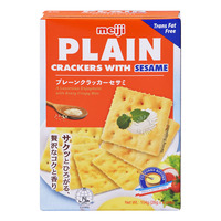 Meiji Plain Crackers - Sesame