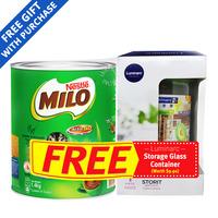 Milo Instant Chocolate Malt Drink Powder-Regular+GlassContainer