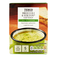 Tesco Instant Cup Soup - Broccoli & Stilton