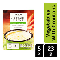 Tesco Instant Cup Soup - Vegetables With Croutons