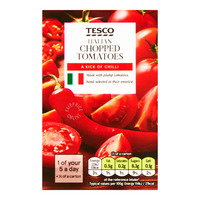 Tesco Italian Tomatoes - Chopped (With Chilli)