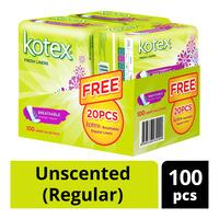 Kotex Breathable Fresh Liners-Unscented(Regular)
