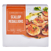 Blu Ventures Ready to Cook Frozen Scallop Medallions