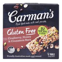 Carman's Gluten Free Bars - Cranberry, Honey & Cinnamon