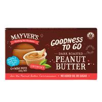 Mayver's Mini Pots Peanut Butter - Crunchy (Dark Roasted)