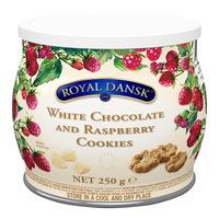 Royal Dansk Cookies - White Chocolate & Raspberry