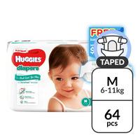 Huggies Platinum Diapers - M (6 - 11kg) + Baby Wipes