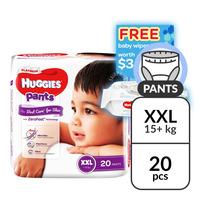 Huggies Platinum Pants - XXL (> 15kg) + Baby Wipes