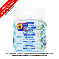 FairPrice Baby Wipes - Unscented + Foldable Bag