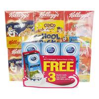 Kellogg's Cereal - School Pack + Dutch Lady Full Cream Milk