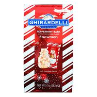 Ghirardelli Chocolate - Peppermint Bark (Snowmen)
