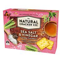 The Natural Cracker Co. Crispy Crackers - Sea Salt & Vinegar