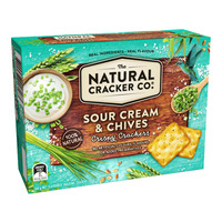 The Natural Cracker Co. Crispy Crackers - Sour Cream & Chives