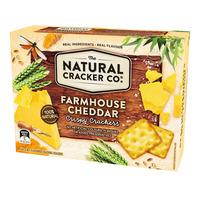 The Natural Cracker Co. Crispy Crackers - Farmhouse Cheddar