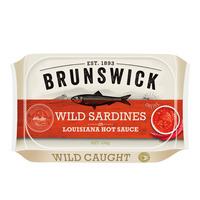 Brunswick Wild Sardines - Louisiana Hot Sauce