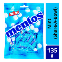 Mentos Chewy Mints - Mint (Share- A-Bowl) 135G